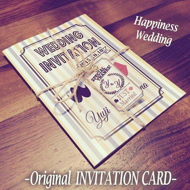 招待状の外紙になります 特典のオリジナルタグと麻紐で縛ればオシャレ度がUPしますね!  ハピネスでは、お二人のご希望通りにオリジナルデザインでペーパーアイテムなど制作しております♪  詳しくは、プロフィールよりサイトのホームページをご覧ください^_^  #結婚式 #結婚準備 #結婚式準備 #ブライダル #席次表 #ペーパーアイテム #プロフィール席次表 #席札 #招待状 #プロフィールムービー #生い立ちムービー #DIY #余興  #オリジナル席次表 #スタンプ #ハワイ挙式 #ウェディング #プロフィールブック #入籍 #DIY #ミタント #ミタント紙 #ガーランド#JUSTMARRIED #招待状 #invitation #サンキュータグ #SAVETHEDATE #セーブザデート #結婚式 #wedding #プレ花嫁