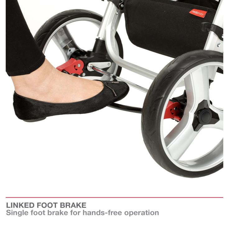 Redsbaby Bounce - The Utlimate All-In-One Stroller/ Pram www.redsbaby.com.au  With a linked foot break for hands-free operation