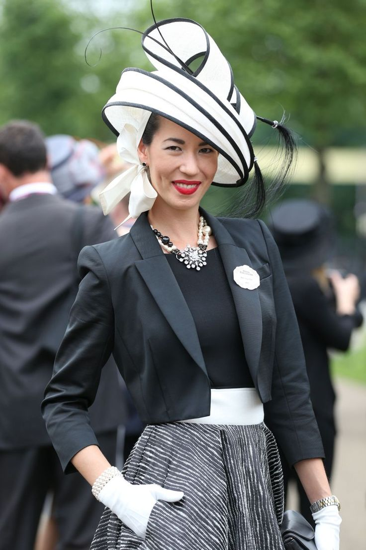"The totaly lovely fashion of Grayand Osbourn sure is the best for a horserace...this example for a lovely ""A dady at the races"" outfit is from Ladies Day at Royal Ascot 2014..."