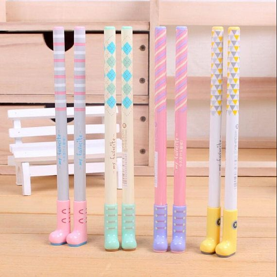 Wellington Boots Gel Pens Kawaii Boots and Shoes Cute