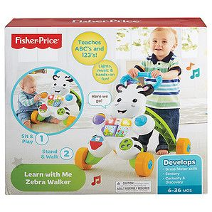 From teaching first words to encouraging first steps, the Fisher-Price Learn with Me Zebra walker is the kind of first friend you want for your little...