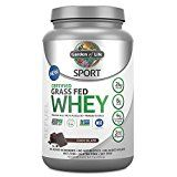 Garden of Life Sport Certified Grass Fed Clean Whey Protein Isolate Chocolate 23.7oz (1lb 7.7oz / 672g) Powder