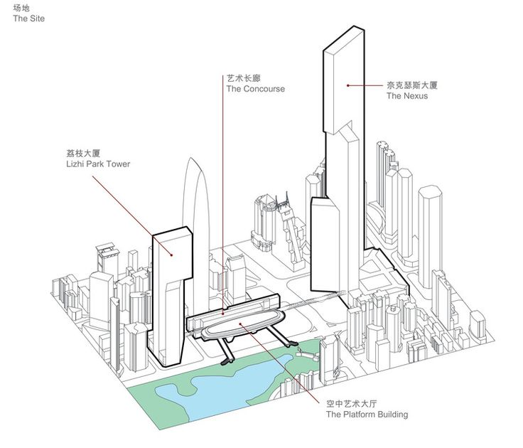 PLP Unveils Pearl River Delta's Tallest Building as Part of New Masterplan | ArchDaily