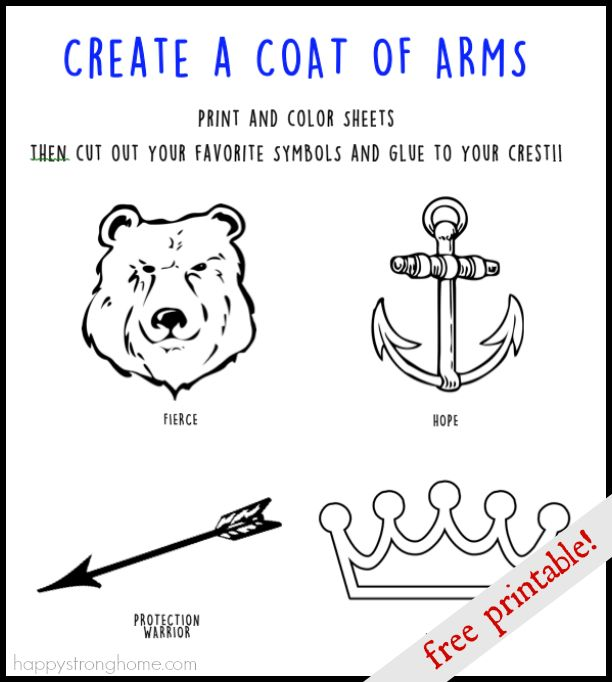 Create a Coat of Arms Activity + FREE Printable! (With