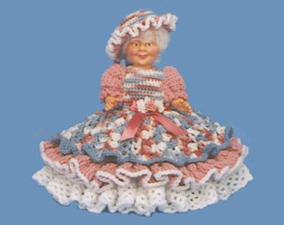 "Crochet Air Freshener Cover Patterns | 7003 14"" NORMA Crafter's Collectible™ Grandma Doll Pattern"