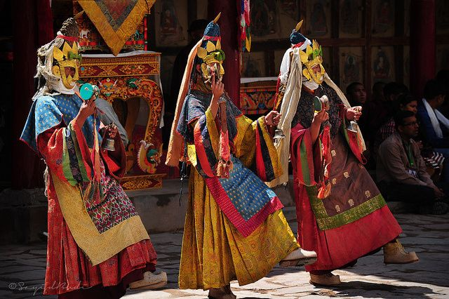 The sacred mask dance of Hemis festival,Ladakh