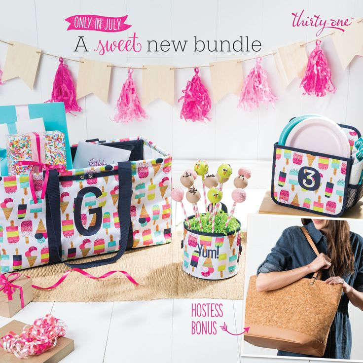 Thirty-One July Hostess Special $35 with a qualifying party! Who doesn't love the new print!? Join my VIP group for more details @ www.facebook.com/groups/nicoleflyte