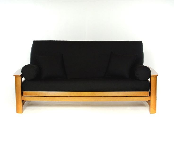 Lifestyle Covers Black Full Size Futon Cover For A Simple, Chic Look. Best  Futon MattressFuton ...