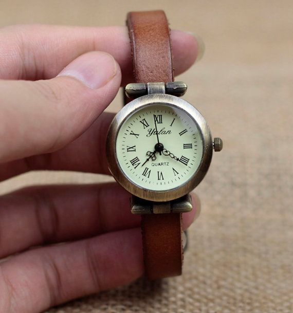 Contracted watches, Roman numerals watches, ladies watches, leather watch, leather watch on Etsy, $8.99