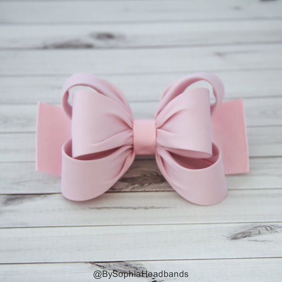 Light Pink Hair Clip Pink Bow Hair Clip Bow Hair by BySophiaBaby