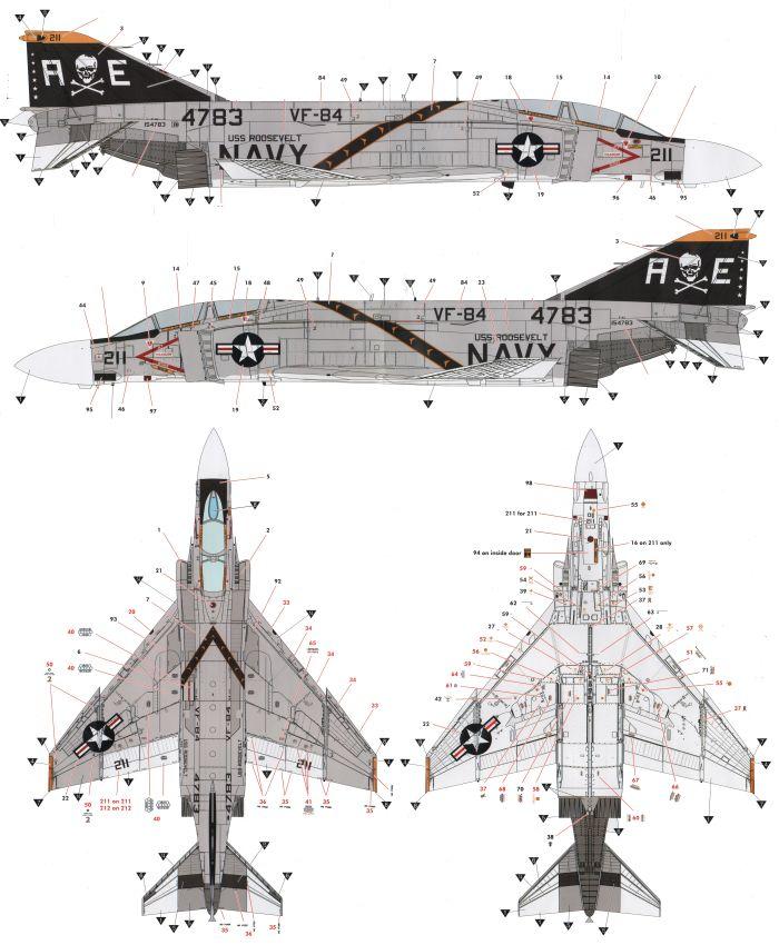 F-4B/J/N Phantom II High Visibility Color Profile and