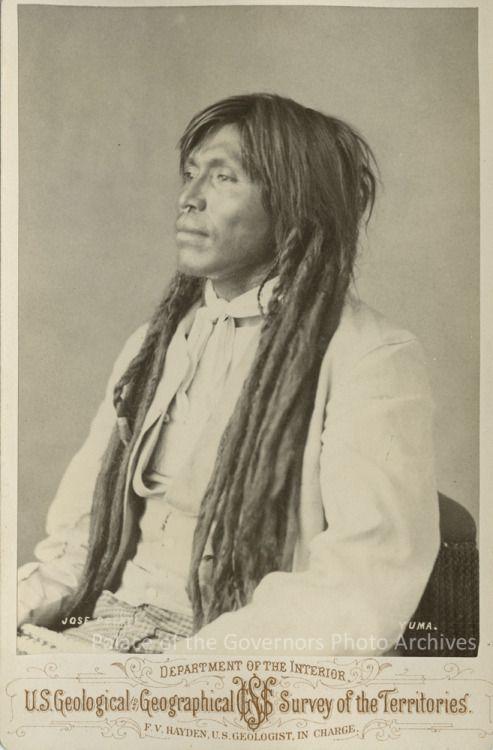 José Pocati, Yuma [Quechan] man from ArizonaPhotographer: Charles M. BellDate: 1872Negative Number 087545