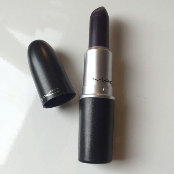 MAC Satin Blackish Purple Lipstick MAC Cosmetics intensely dark blackish purple lipstick with satin finish. Never used, new. Color is 'Cyber' MAC Cosmetics Makeup Lipstick