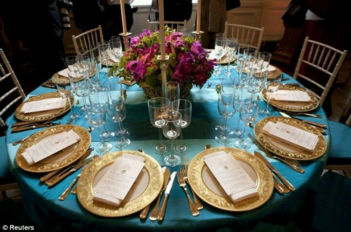 Teal With Gold Party Ideas Pinterest Teal Table