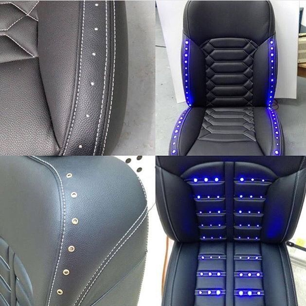 alea leather led seat concept d co voiture led. Black Bedroom Furniture Sets. Home Design Ideas