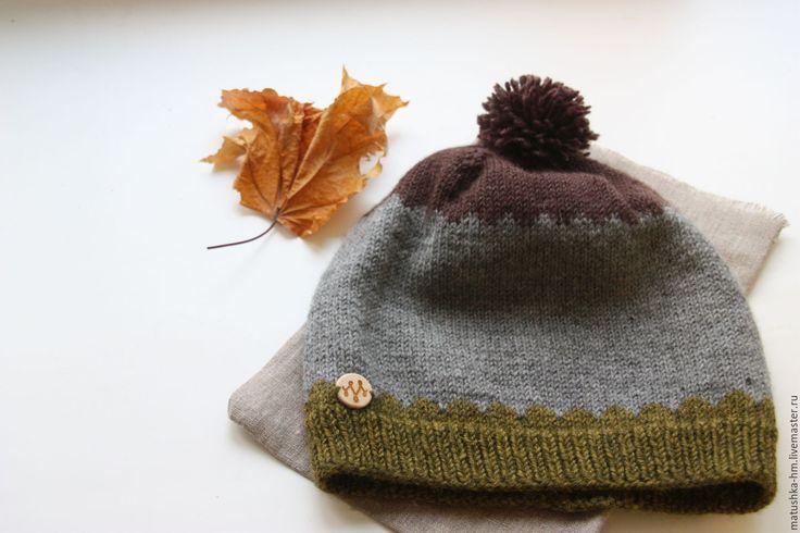Купить Вязаная шапка - разноцветный, в горошек, шака, жакккард, зимняя шапка, жаккардовая шапка, knitting, knitting hat, hat, wool hat, hand made