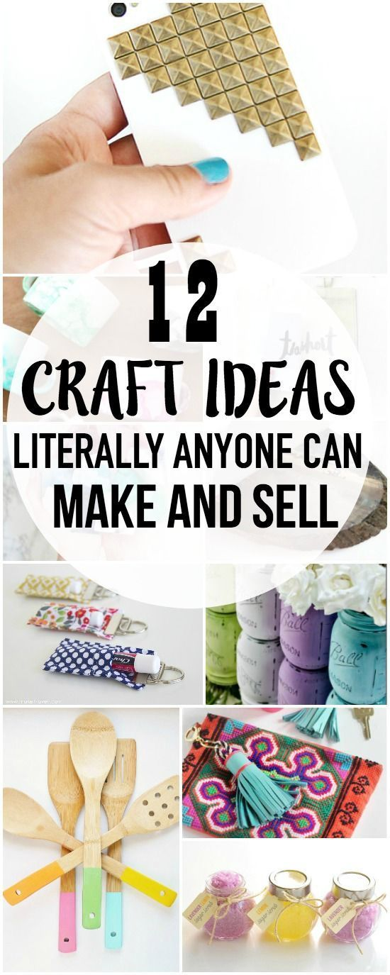 Anyone can make and sell these craft ideas! It's a great way to earn extra money online! Pin for later!
