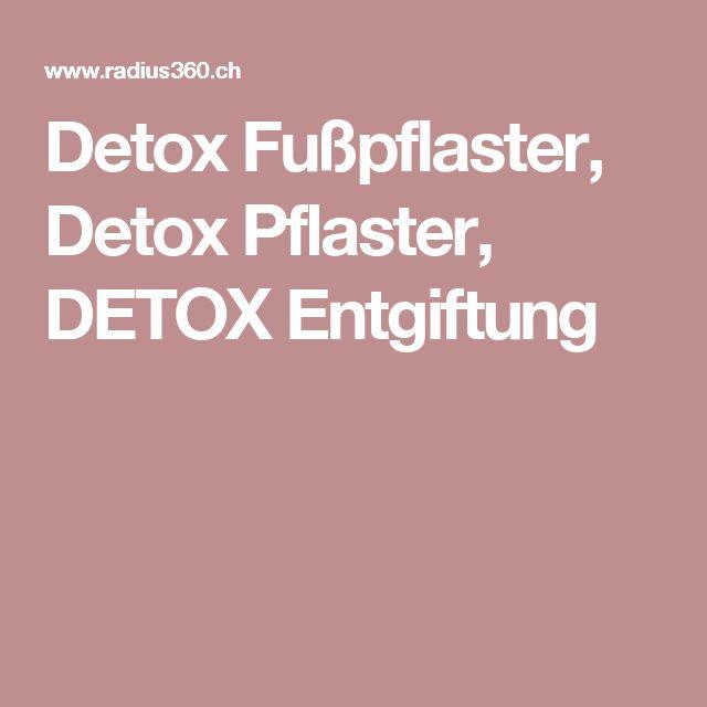 Detox Fußpflaster, Detox Pflaster, DETOX Entgiftung