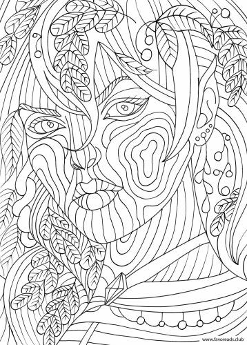 face coloring pages adults - photo#43