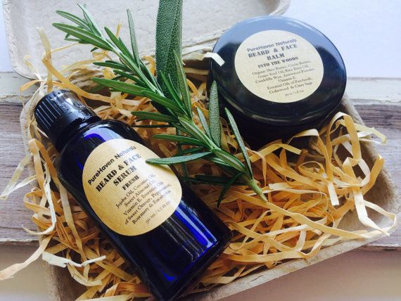 Men's Skin Care Set: Beard / Face Balm plus by PureHavenNaturals