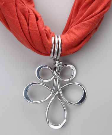 Recycled Aluminum - Take a look at this Silver Freedom Scarf Pendant by aluminations on #zulily today!