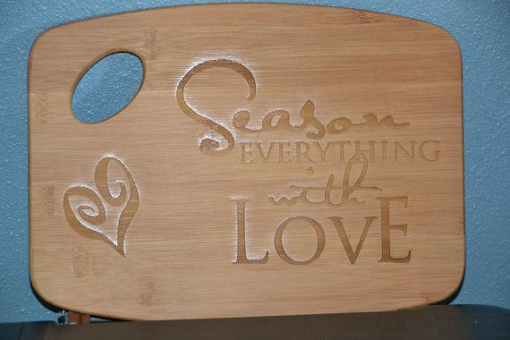 Laser Engraved Cutting Board