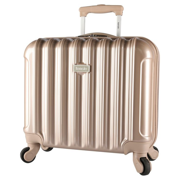 Kensie 17 Rolling Briefcase with Spinner Wheels - Pale Gold, Light Gold