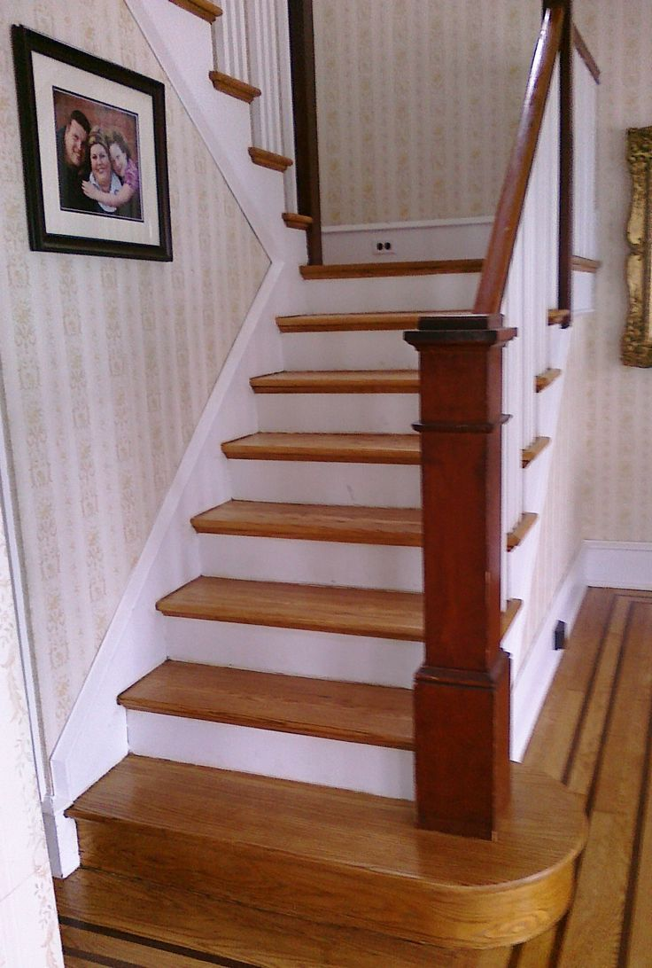 Best 25 oak stairs ideas on pinterest stair banister - Interior stair treads and risers ...