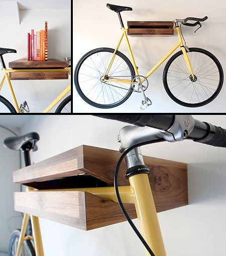 Bike Shelf: The Bookshelf That Will Also Hold a Bike - TechEBlog