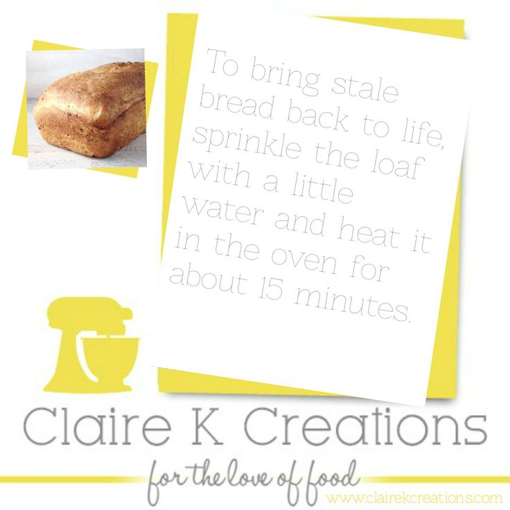 stale bread? here's a tip for you. #tip #cooking #hack #foodblogger #clairekcreations
