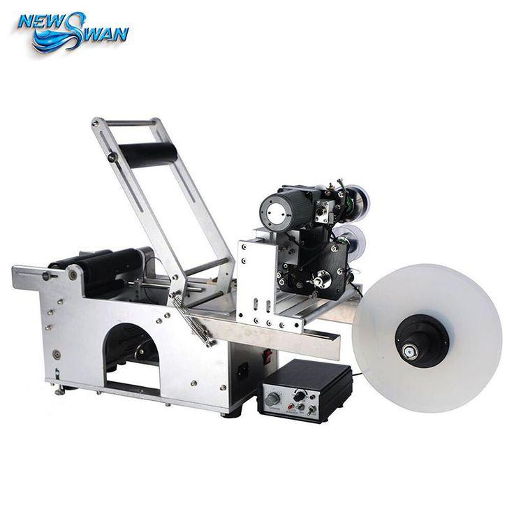 Original LT50D 25mm 150mm Sticker Printer Code The Non-drying Label Printer Semi-automatic Round Bottle Sticker Labeling Machine #Affiliate