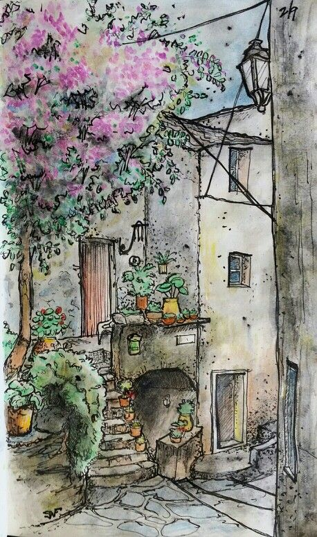 Watercolor and ink. Finished on February 9th 2014. From image online. Free hand sketch.