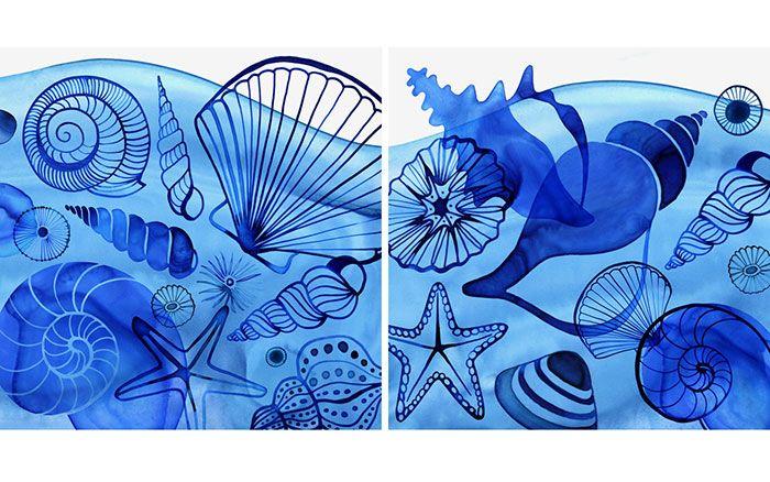 Margaret Berg Art: Floating+Shells