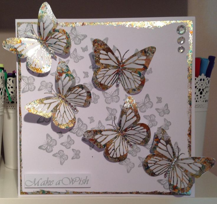 Stamps by Chloe monarch butterfly and gilding flakes