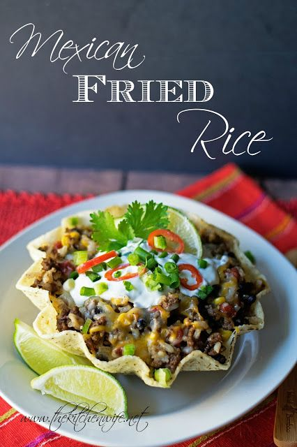 A quick weeknight night meal of Mexican Fried Rice that is ready in 20 minutes and is pantry friendly! #YesYouCAN #ad www.thekitchenwife.net