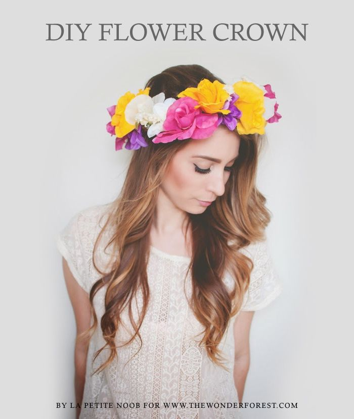DIY Flower Crown Tutorial | Wonder Forest: Design Your Life. (with faux flowers)