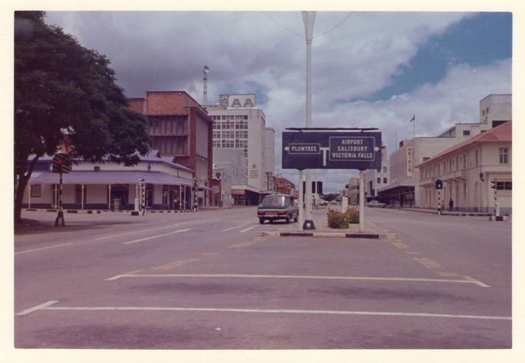 Bulawayo streets - I think this was the intersection of Fife and Selborne
