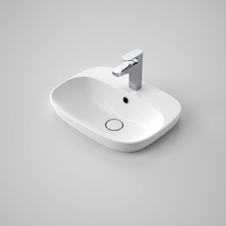 Contura 500 Inset Basin - Organic and minimalist. http://www.caroma.com.au/bathrooms/basins/contura/contura-500-inset-basin-