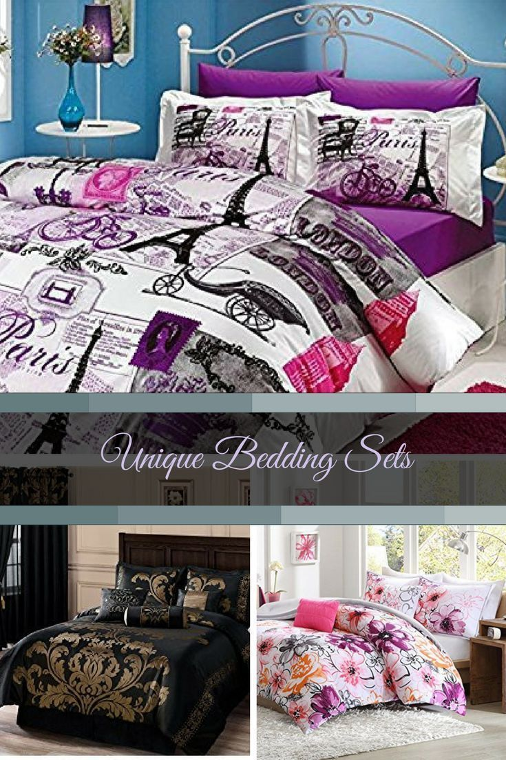 Eye Catching, Adventurous, and Unique Bedding Sets  Elevate the rooms in your home with some fun, trendy and modern not to mention unique bedding sets.  You will apprecaite how popular and stylish these are.  You will love how your bedroom will look with both queen bedding sets and king bedding sets to pick from.