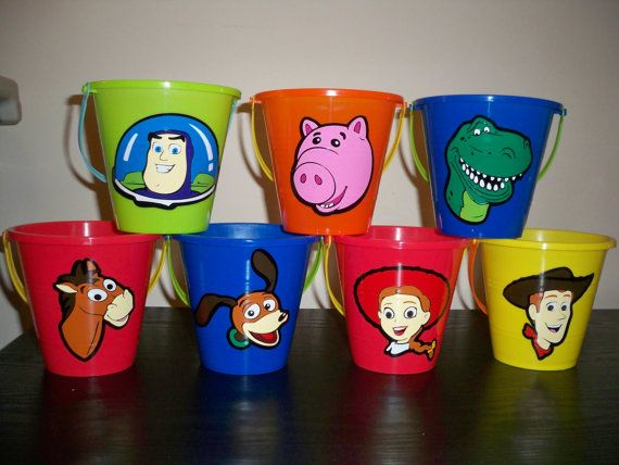 TOY STORY PARTY favor pails price is for one by BeyondBalloons, $5.00