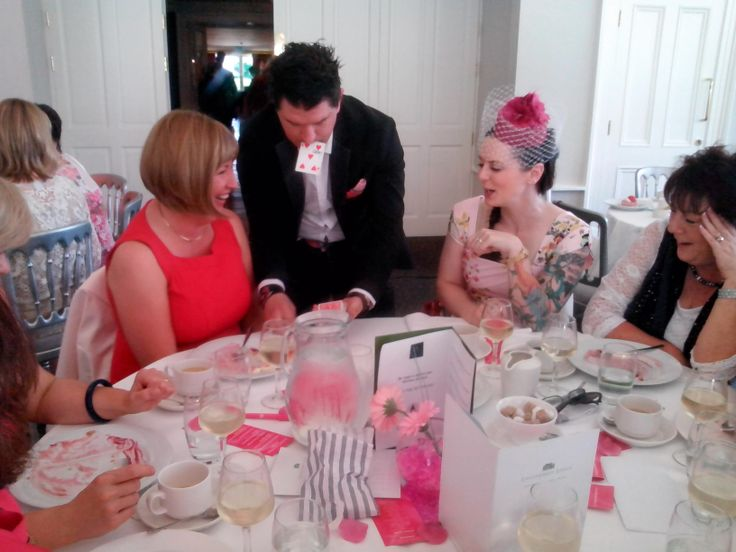 Steve Spade performs some of his mind blowing magic during The Pink Afternoon at The Lodge at Ashford Castle on Friday, June 13th 2014.
