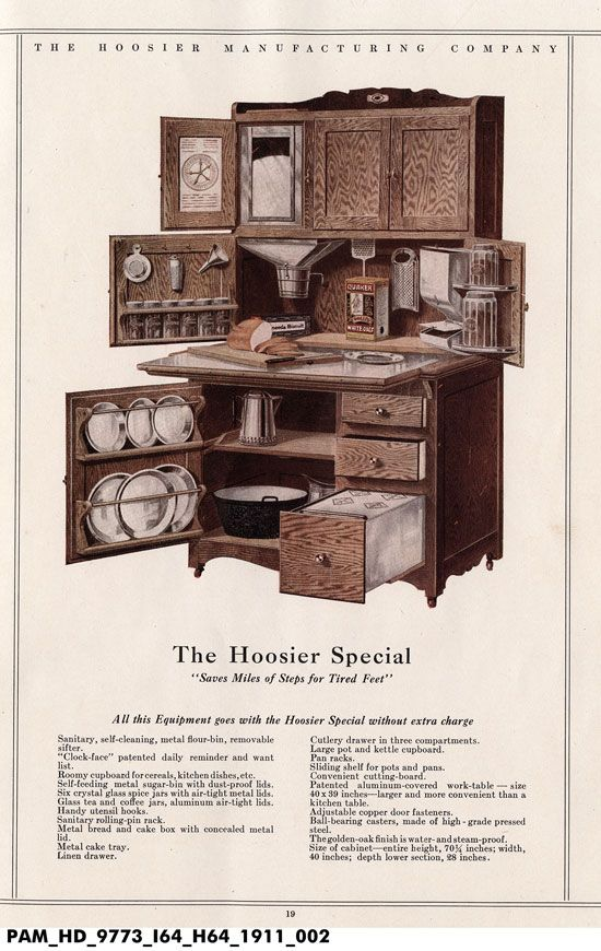 Plans to build your own 1900 Hoosier Cabinet with swing out for stand mixer