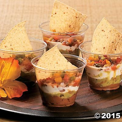 Luau Snack Cups Idea | This idea makes it easy to serve chips & dip at your luau! #recipes