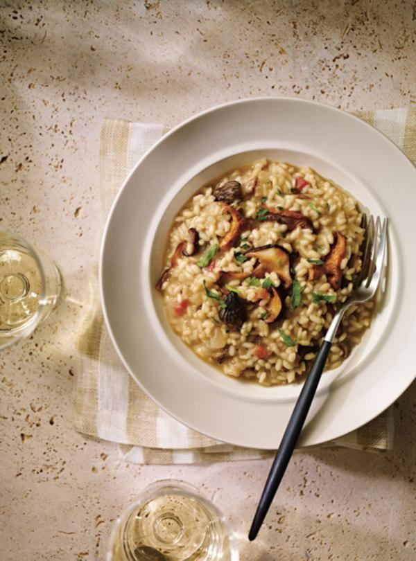 Recette de Ricardo de risotto aux champignons et à la pancetta