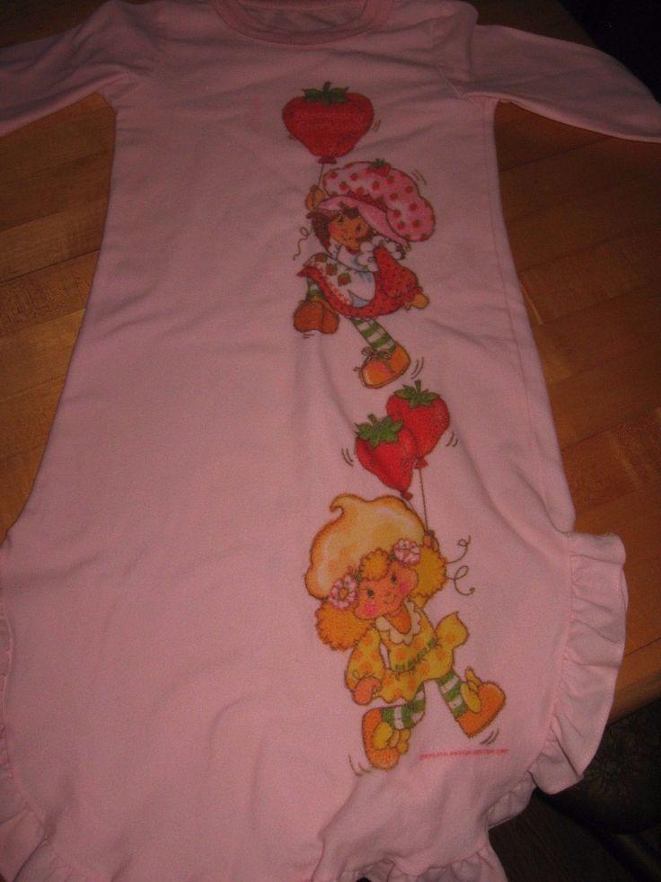 Strawberry Shortcake Vintage Girls Night Gown | eBay
