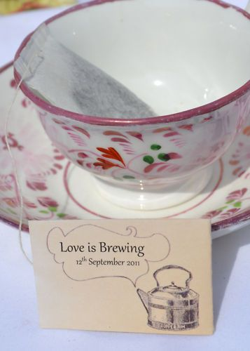 """Love is Brewing"" - tea party bridal shower theme- interesting idea that way you can do tea & sandwiches and deserts and dress up"