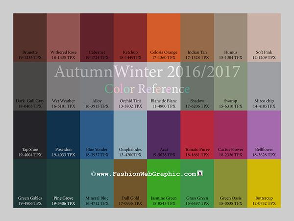 Aw2016 2017 Trend Forecasting On Pantone Canvas Gallery Trends Fw 16 17 In 2018 Color Fashion