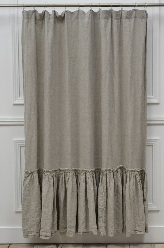 Vintage Ruffle Shower Curtain 72w X 76l By