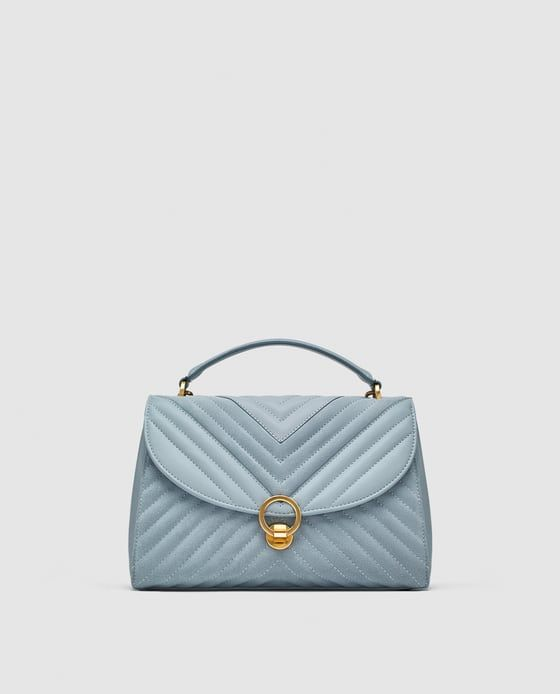 85201ab6 QUILTED CROSSBODY BAG WITH LEATHER DETAILS from Zara | handbag in ...