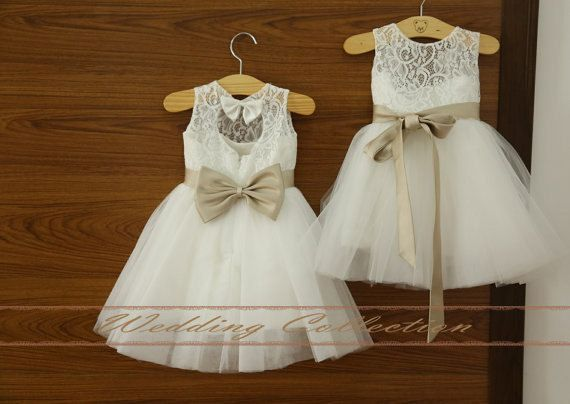 Square tulle tutu lace flower girl dress by Weddingcollection, $69.99 Mackenzie would look so cute!!!!!